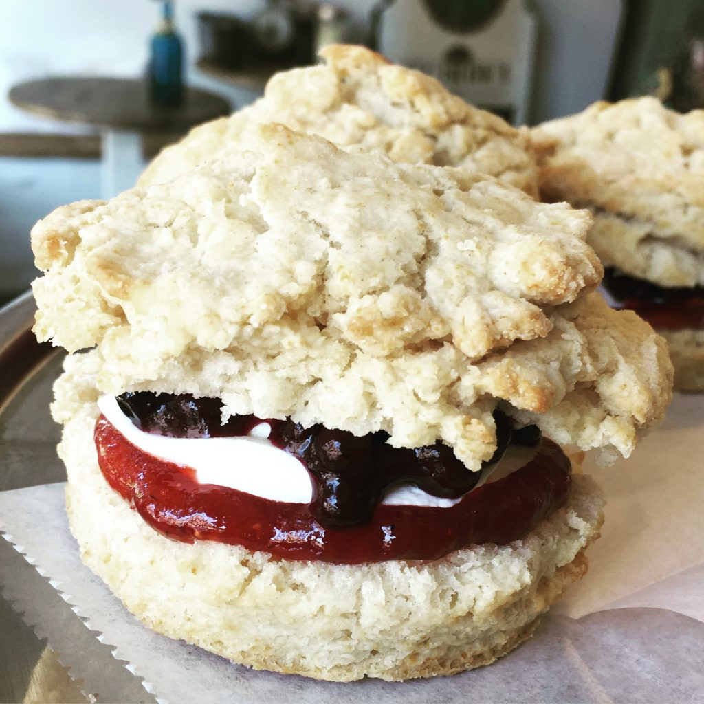 Red White And Blue Scone Sandwich Pittsburgh Boozy Bakery